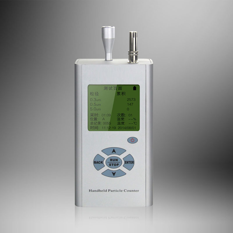 Portable 3-Channel Handheld particle counter
